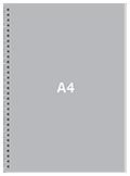 Блокнот А4 вертикальныйПереплет сбоку