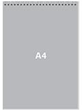 Блокнот А4 вертикальныйПереплет сверху