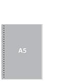 Блокнот А5 вертикальныйПереплет сбоку