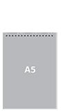 Блокнот А5 вертикальныйПереплет сверху