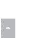 Блокнот А6 вертикальныйПереплет сбоку