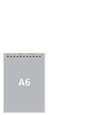 Блокнот А6 вертикальныйПереплет сверху