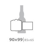 Наклейка на бутылку 90х99 мм