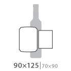 Наклейка на бутылку 90х125 мм