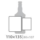 Наклейка на бутылку 110х135 мм