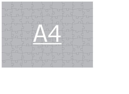 Пазл А4 горизонтальный