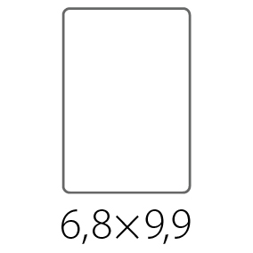 Наклейки, стикеры 68х99 мм