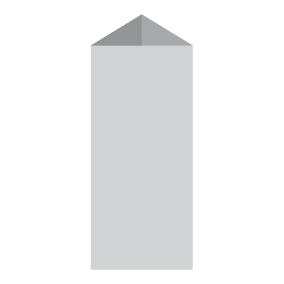 Менюхолдер, тейбл-тент призма 13,5 х 29,7 см