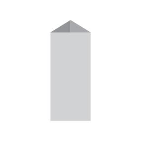 Менюхолдер, тейбл-тент призма 9,5 х 21 см