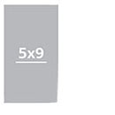Визитки 5х9 см односторонние Комплект 24 визитки