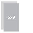 Визитки 5х9 см двухсторонние Комплект 24 визитки