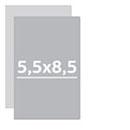Визитки 5,5х8,5 см двухсторонние Комплект 21 визитки